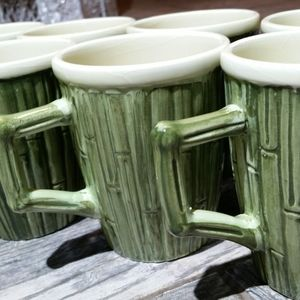 Eight Bamboo Relief Style Cups